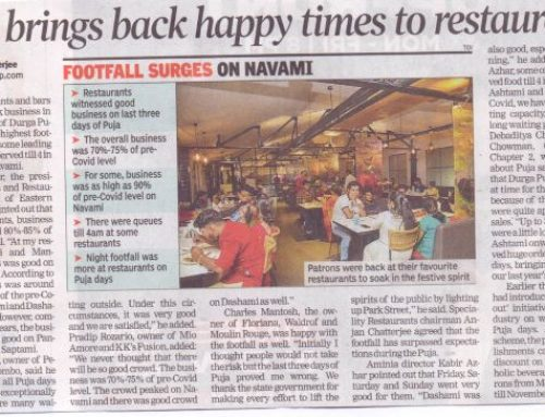 Puja brings back happy times to restaurants